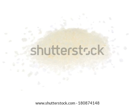Pile of large salt crystals isolated over the white background - stock photo