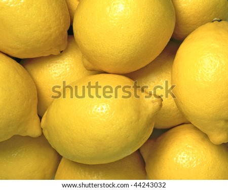 Pile of lemons - stock photo
