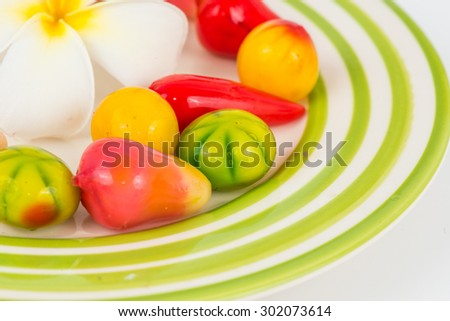 pile of many child candies like colorful background.