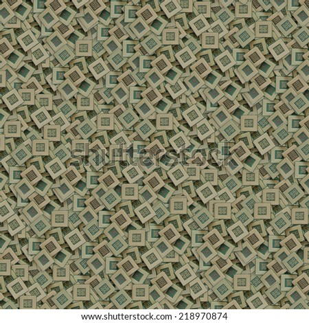 pile of many old dirty chips background - stock photo