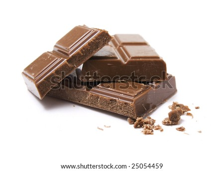 pile of milk chocolate blocks