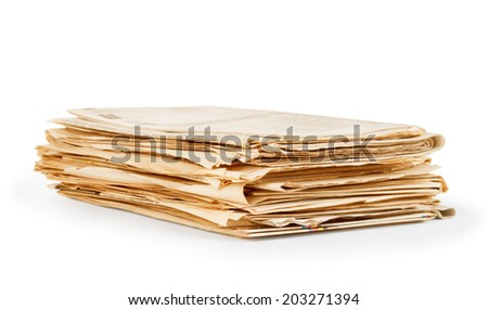 pile of newspapers - stock photo
