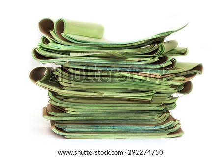 Pile of official papers - stock photo