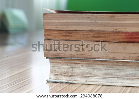 Pile of old books. - stock photo