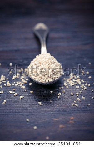pile of pearl barley - stock photo