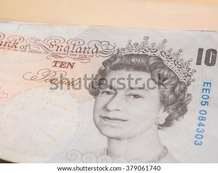 Pile of pound currency close up - stock photo