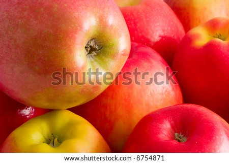 pile of red apples - stock photo