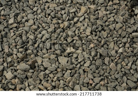 Pile of rubble on construction area. Close-up.  - stock photo