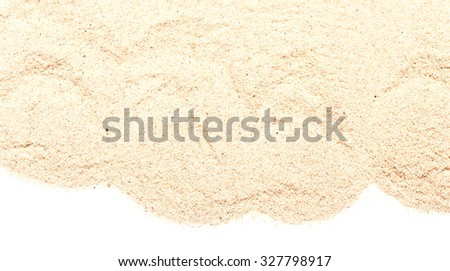 pile of sand isolated on white background