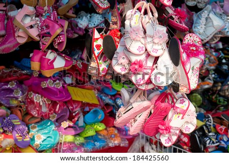 Pile of Shoes. - stock photo