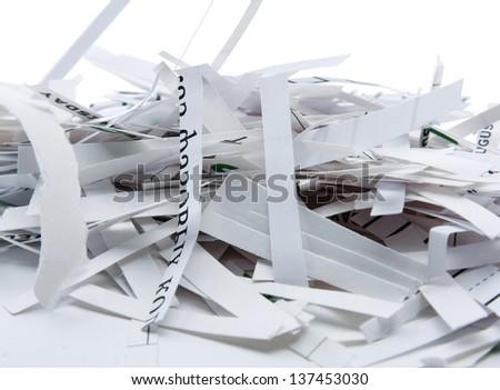 Pile of shredded paper - stock photo