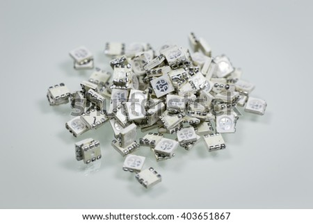 Pile of SMD LED scrap