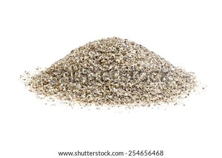 Pile of stone isolated over white background. - stock photo