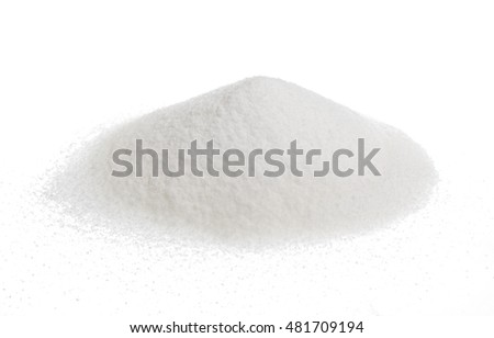 Pile of sugar isolated on white