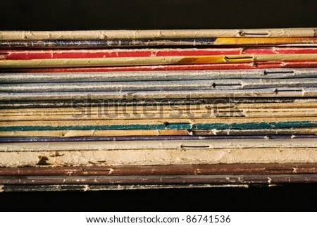 Pile of thin books and  journals - stock photo