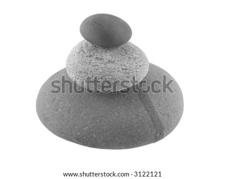 pile of three pebbles... serenity and zen concept