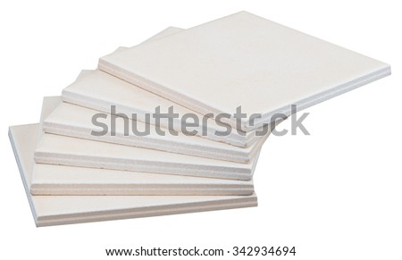 Pile of tiles on isolated white backround  - stock photo