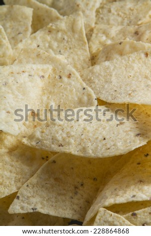 Pile of tortilla chips. - stock photo