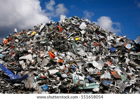 Pile of waste for recycling or safe disposal, any logos and brand names have been removed. Great for recycle and environmental themes.
