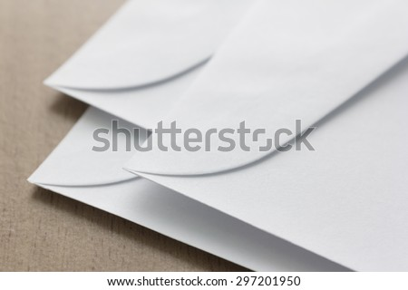 pile of white envelope on table