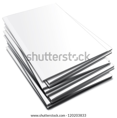 Pile of white notebooks