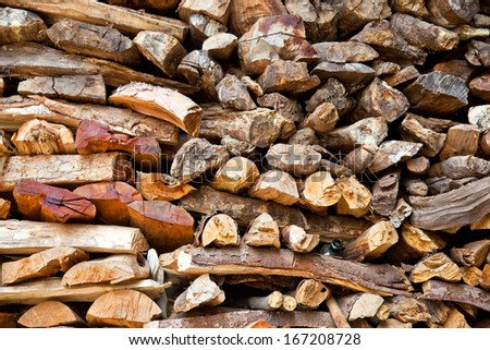 Pile of wood. - stock photo