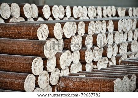 Pile of wood pellets - stock photo