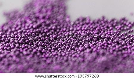 Pile purple balls of bead suitable for Background and texture - stock photo