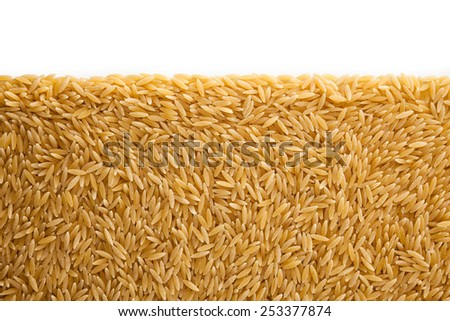 Pile small Vermicelli isolated on white background , copy space - stock photo