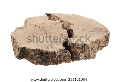 Pile soil isolated on white background - stock photo