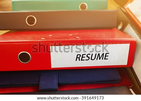 Pile Document File Binder Text Resume Stock Photo Royalty Free