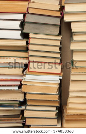 piles of books - stock photo