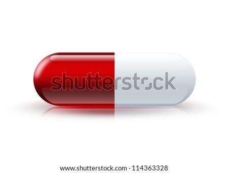 Pill closeup - medical symbol - stock photo