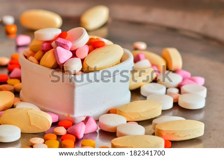 Pill in heart box