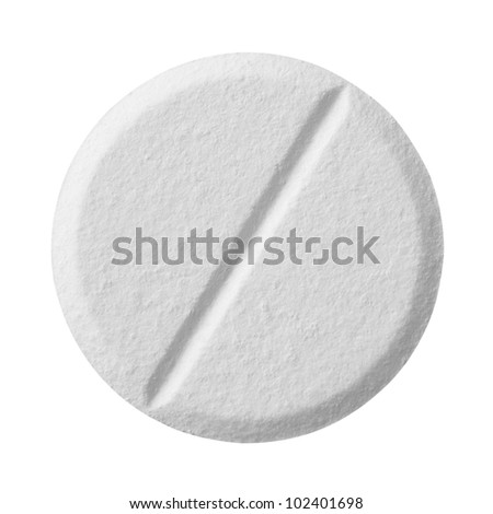 Pill isolated on white background with clipping path