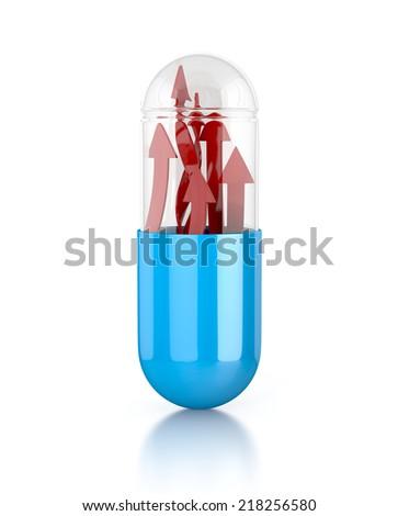 pill representing drug for erectile dysfunction - stock photo