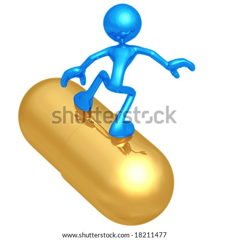Pill Surfing - stock photo