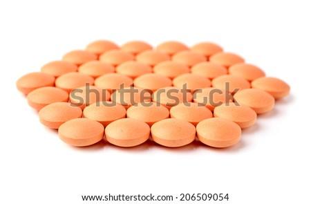 Pill Vitamin C - stock photo