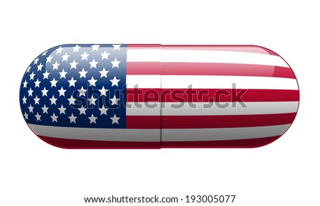 Pill wrapped in a US Flag
