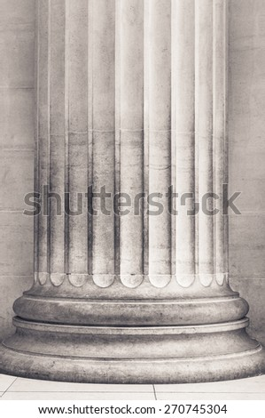 Pillar close up in black and white - stock photo