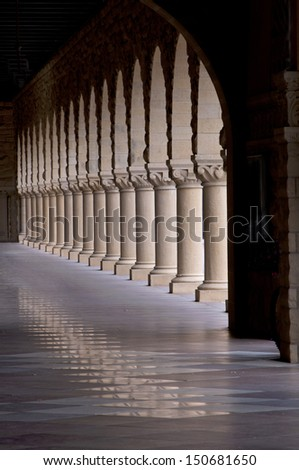Pillar Light - stock photo