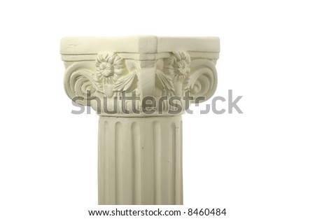 Pillar or Column isolated on white space