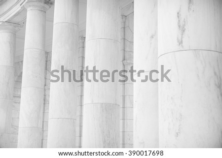 Pillars and Columns in a Row - stock photo