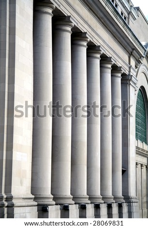 Pillars at Canadian Government Building in Ottawa - stock photo