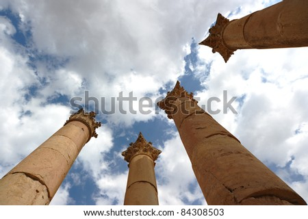 Pillars at Jerash