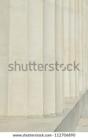 Pillars in a Row - stock photo
