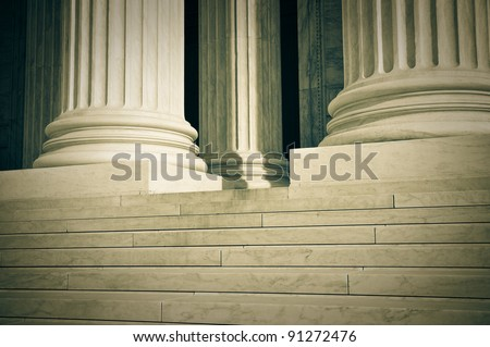 Pillars of Law and Justice US Supreme Court - stock photo