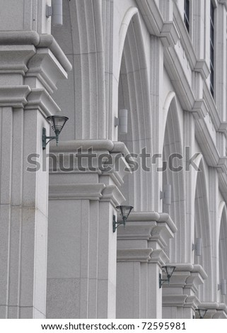 pillars of old building - stock photo