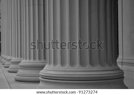 pillars of old building