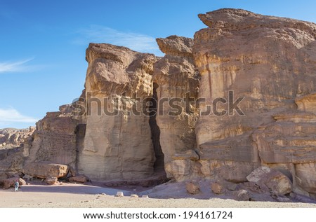 Pillars of Solomon King in geological Timna park, 25 km north of Eilat, Israel